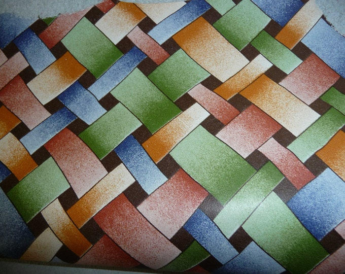"Leather 12""x 20"" , 15""x15""...Autumn Weave pattern cowhide 1.75-2 oz/ .7-.8 mm PeggySueAlso™"