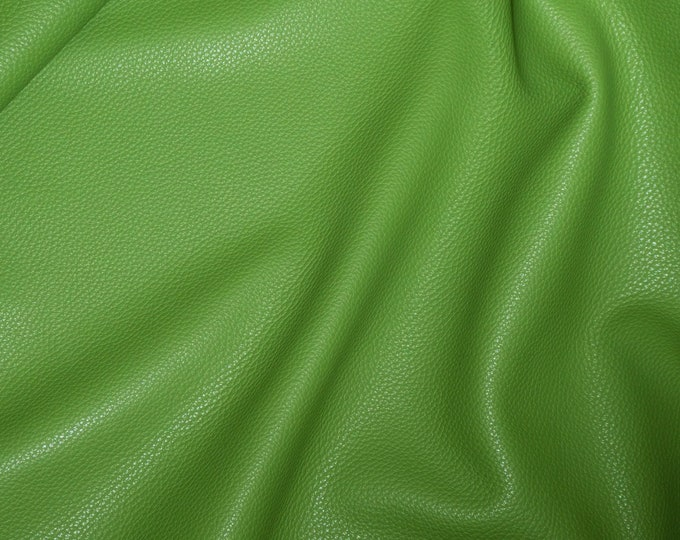"Leather 8""x10"" Imperial Deep AVOCADO GREEN Fully Finished Pebble Grain Thick Italian Cowhide 3.75-4oz/1.5-1.6 mm PeggySueAlso™ E3205-08"