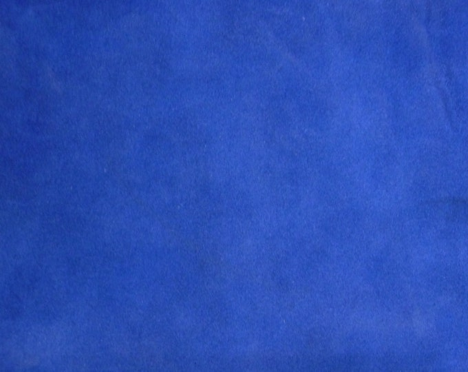 "Suede Leather 8""x10"" BRIGHT ROYAL BLUE Garment Grade Suede Cowhide 3.75-4 oz / 1.5-1.6 mm PeggySueAlso™ E2825-06"