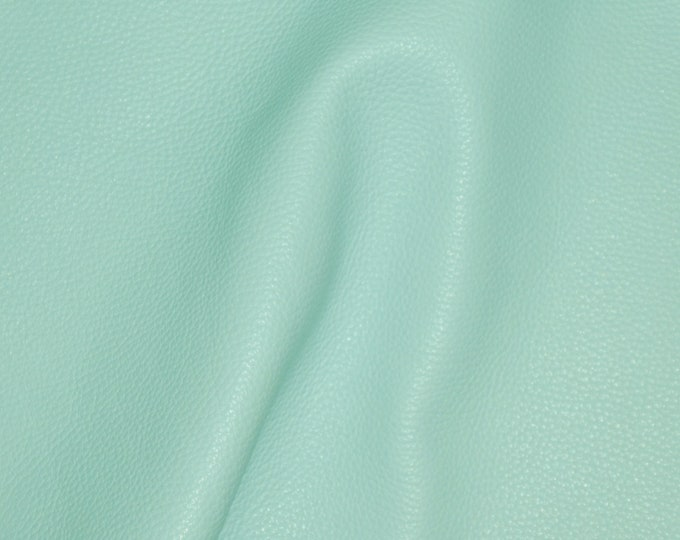 """Leather 12""""x12"""" Imperial MINTY Aqua Fully Finished Pebble Grain Thick Italian Cowhide 3.75-4oz/1.5-1.6mm PeggySueAlso™ E3205-04 hides too"""