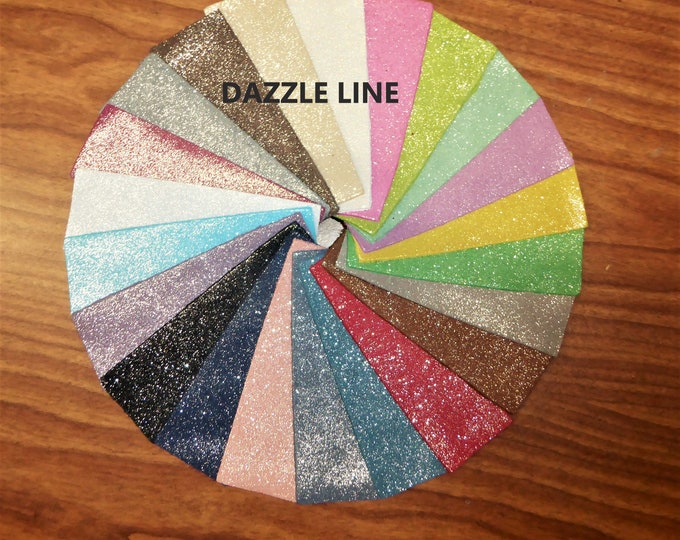 "Metallic Leather 5""x11"" DAZZLE Colors Cowhide 2.75-3 oz / 1.1-1.2 mm PeggySueAlso™ hides available E8300"