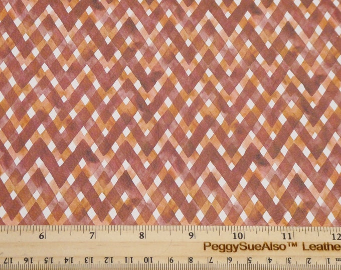 """NeW Leather 12""""x12"""" AUTUMN CINNAMON Rust GINGHAM Plaid 3.25-3.5oz/1.3-1.5mm PeggySueAlso™ E1676-02 hides available"""