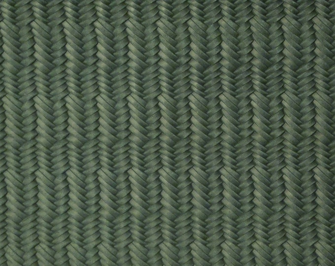"RESTOCKED Leather 8""x10"" PINE GREEN Braided Italian Fishtail Cowhide 2.5-3 oz / 1-1.2 mm PeggySueAlso™ E3160-36 Hides Available"