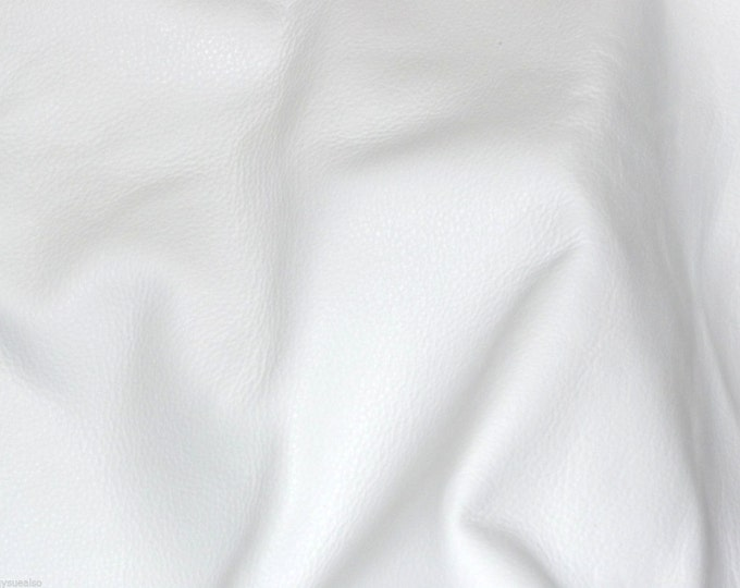 "Leather  12""x20"" or 10""x24"" or 15""x15"".. IMPERIAL WHITE Top Grain Thick Soft Cowhide 4-4.5 oz / 1.6-1.8 mm PeggySueAlso™ E3200-04"
