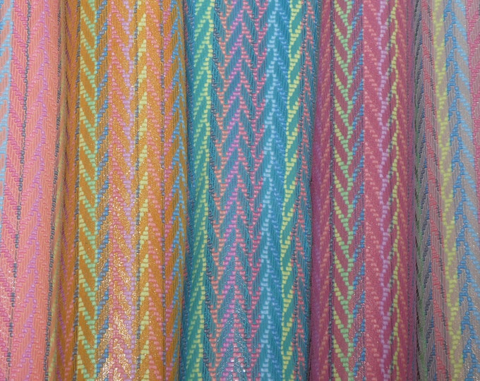 "Leather 12""x12"" RAINBOW CHEVRON Choice of FIVE colors Cowhide 2.5-3 oz / 1-1.2 mm PeggySueAlso™ E1601 Hides available"