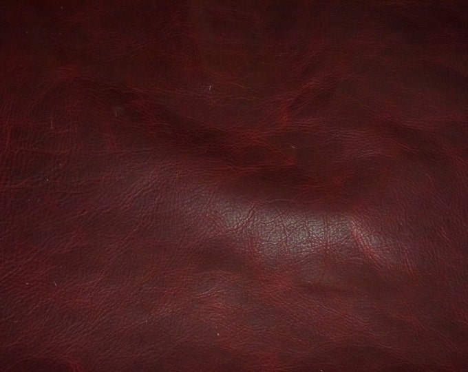 "Leather 8""x10"" PULL UP Distressed MERLOT Wine Cowhide 3-3.5 oz /1.2-1.4 mm PeggySueAlso™ E2930-06 hides available"