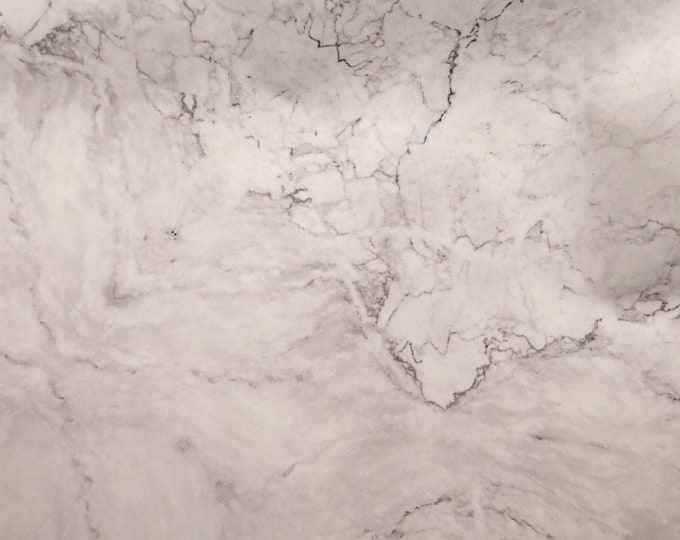 "Leather 20""x20"" MARBLED white with gray Marble Cowhide 3 oz / 1.2 mm PeggySueAlso™ E2360-01 Full hides too"