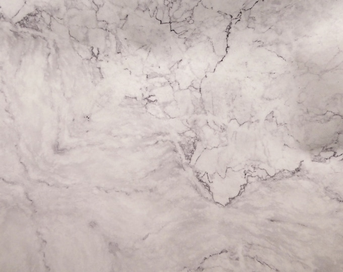 "Leather 12""x20"", 15""x15""... MARBLED white with gray Marble Cowhide 3 oz / 1.2 mm PeggySueAlso™ E2360-01 Full hides too"