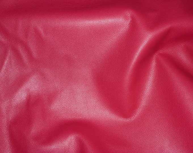 """Leather 12""""x12"""" Divine RASPBERRY RED Top grain Cowhide 2-2.5 oz / .8-1 mm PeggySueAlso™ E2885-40 Full hides available"""