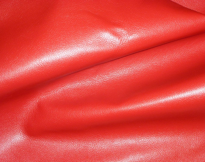 """Leather 8""""x10"""" Divine VALENTINE RED top grain Cowhide 2.5 oz / 1mm PeggySueAlso™ E2885-46"""