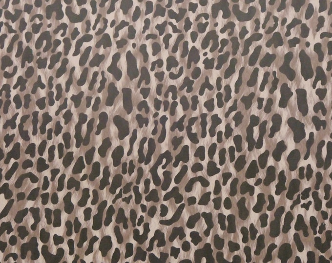"Leather 12""x12"" DESERT LEOPARD Print On Cowhide 3-3.25 oz/1.2-1.3 mm PeggySueAlso™ E2550-18"