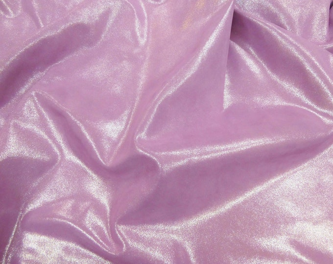 """Metallic Leather 8""""x10"""" Dazzle Silver on LILAC BLOOMS on Cowhide 3-3.25 oz / 1.2-1.3 mm PeggySueAlso™ E8300-17"""