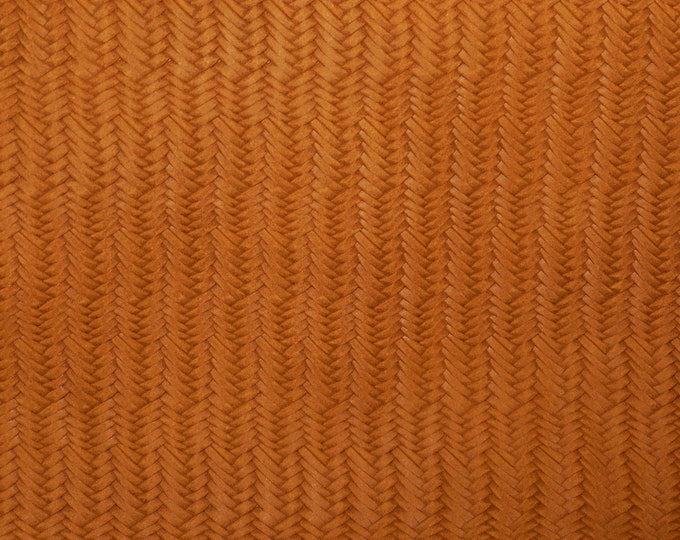 """Leather 12""""x12"""" GINGER Braided Fishtail SOFT Cowhide 3 oz / 1.2 mm PeggySueAlso™ E3160-52 hides available"""