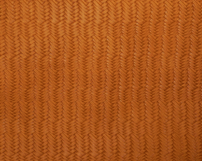 """Leather 8""""x10"""" GINGER Braided Fishtail SOFT Cowhide 3 oz / 1.2 mm PeggySueAlso™ E3160-52 hides available"""