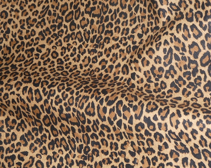 "Leather 5""x11"" Original Mini TAWNY Tan Cheetah / Leopard Print Soft Grain NOT hair on Cowhide 2.5oz / 1mm #331 PeggySueAlso™ E6730-01"