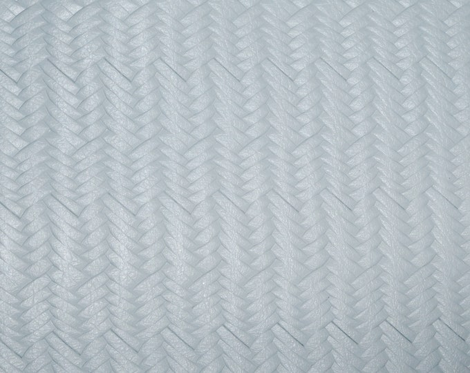 "Leather 12""x12"" Braided ITALIAN Fishtail CLOUD GRAY Grain Cowhide (see description) 3-3.5 oz / 1.2-1.4 mm PeggySueAlso™ E3160-25 Hides too"