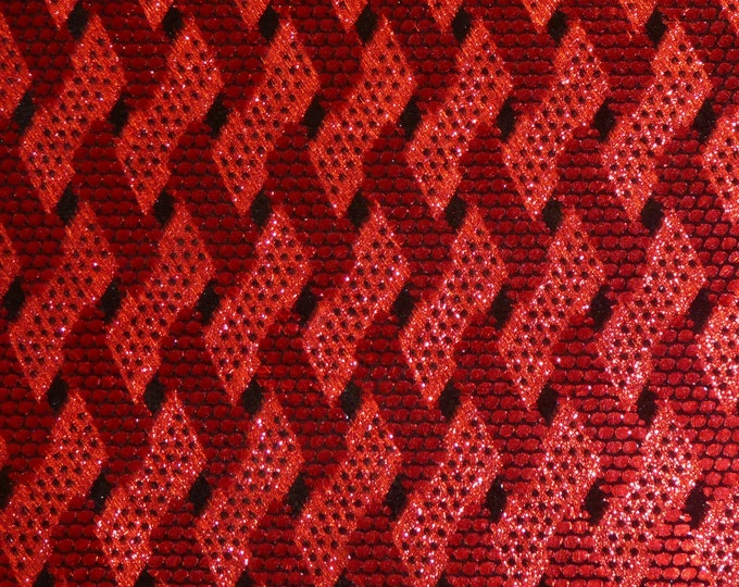 "Metallic Leather 8""x10"" RED and BLACK GRILLE  Cowhide 3.5oz /1.4 mm PeggySueAlso™ E1278-02 hides available"