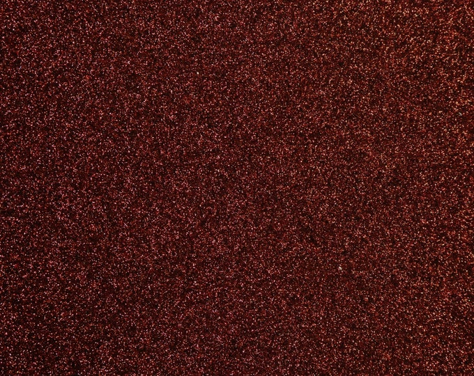 "8""x10"" Fine GLITTER (not chunky) Burgundy / Maroon / GARNET Fabric applied to Black Leather THiCK 5oz/ 2 mm PeggySueAlso™ E4355-19"