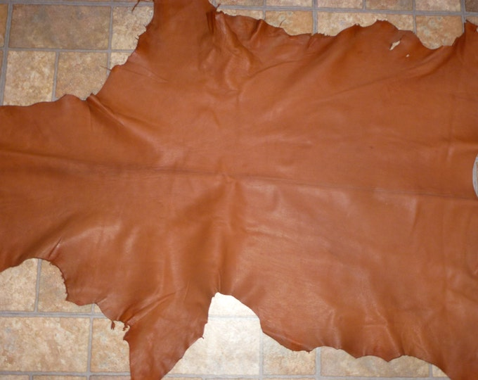 Leather 5-6 sq ft Matte Chestnut Brown GOATSKIN Hide (not the pictured hide, a very similar one) 2.25-2.5oz / 0.9-1mm PeggySueAlso™ E2787-01