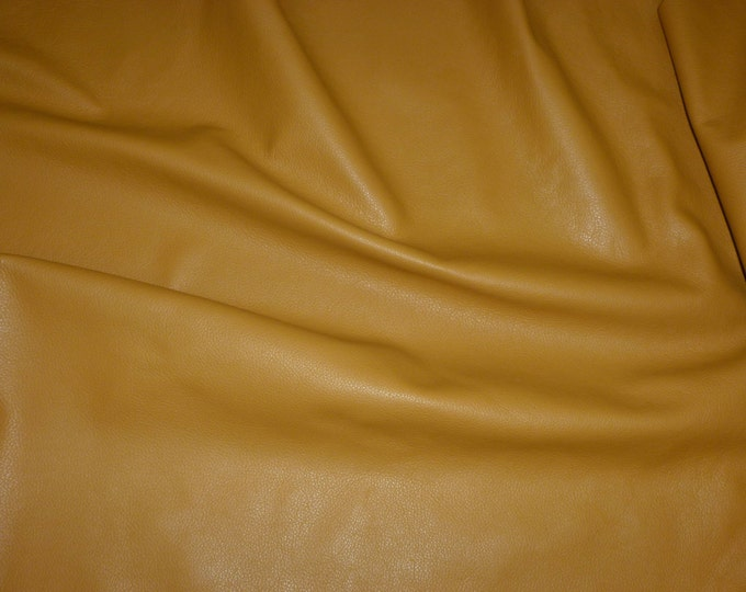 """Leather 12""""x12"""" Divine DIJON Mustard Yellow top Grain Cowhide  2.5 oz / 1mm - PeggySueAlso™ E2885-21 full hides available"""