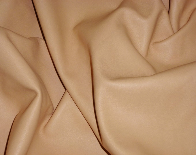 """Leather 12""""x12"""" KING Light Palomino Rich Honey Tan Soft grain Cowhide 3 oz/1.2mm PeggySueAlso™ E2881-11 Full hides available"""