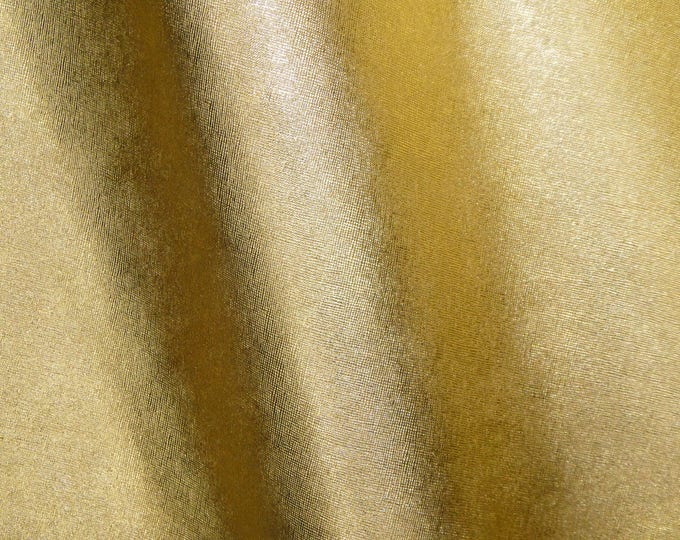 "OVERSTOCK Leather 6 Pack 4""x6"" Saffiano GOLD Metallic Weave Embossed Cowhide 2.5-3oz/ 1-1.2mm PeggySueAlso™ E8201-05 hides available"