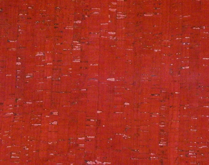 """Cork 8""""x10"""" Dark RED Cork applied to Leather for body/strength Thick 5oz/2mm E5610-10 Hides too"""