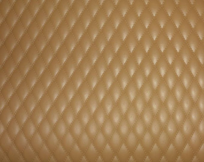 """Leather 6 Pack 4""""x6"""" Quilted VACHETTA Tan 1/2"""" Pattern Cowhide 2.5-3 oz / 1-1.2 mm #358 PeggySueAlso™ E2911-13 LIMITED"""