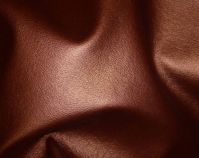 """Leather 12""""x12"""" Dark Copper UPHOLSTERY (not real soft) Cowhide 3-3.5 oz /1.2-1.4 mm PeggySueAlso™ E2890-01"""