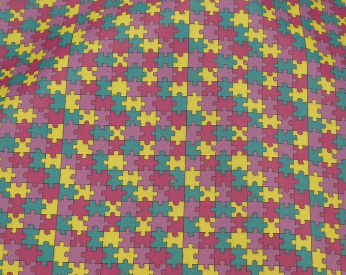 Leather CLOSEOUT Jigsaw Puzzle YELLOW GREEN Cowhide 2.5-3 oz /1-1.2 mm #100 #244 PeggySueAlso™ E1185-02 Autism