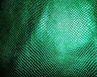 "Metallic Leather 12""x12"" Amazon Cobra EMERALD GREEN Metallic Cowhide 2.5 oz / 1mm PeggySueAlso™ E2846-12 Limited"