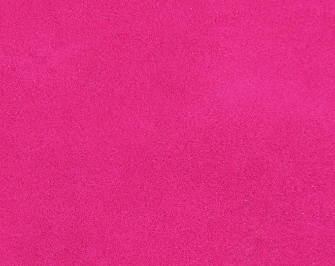 """Suede Leather NEW dye lot 12""""x12"""" Bright HOT PINK / Fuchsia Garment Grade Cowhide 3-3.5 oz /1.2-1.4 mm PeggySueAlso™ E2825-13"""