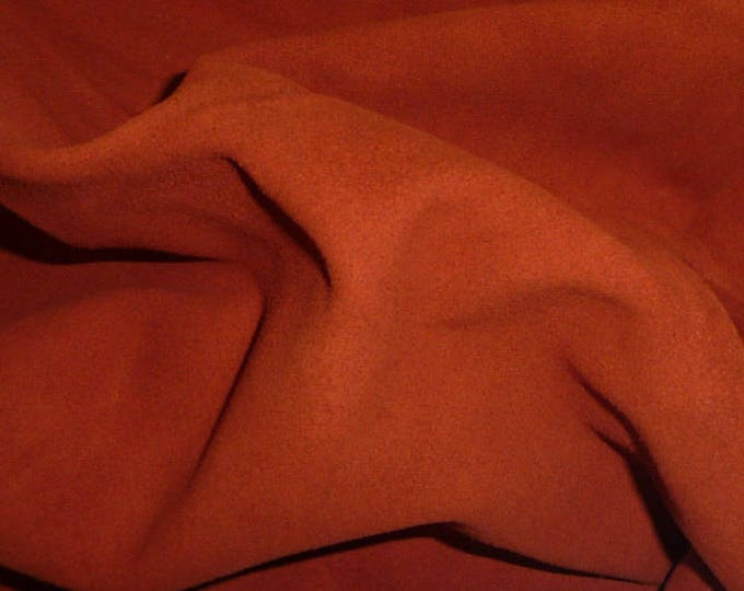 """Suede Leather 8""""x10"""" AUBURN / Rust Garment Grade Cowhide 3.5-4 oz / 1.4-1.6 mm PeggySueAlso™ E2827-09"""