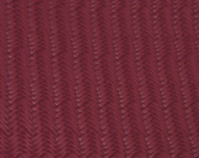 "Leather 5""x11"" Braided Fishtail MAROON  Cowhide 2.5-3 oz / 1-1.2 mm PeggySueAlso™ E3160-60 Hides available"