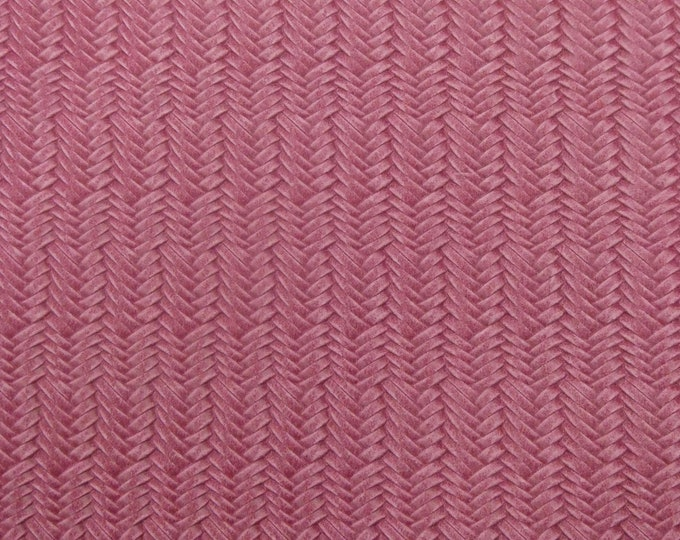 Leather 3+ sqft Braided Italian Fishtail BLUSH PINK Cowhide 3-3.5 oz / 1.2-1.4 mm PeggySueAlso™ E3160-75