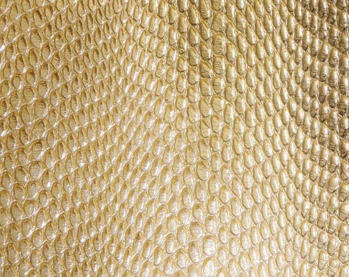 Metallic Leather 3 or 4 or 5 or 6 sq ft Amazon Cobra GOLD Metallic Cowhide 2.5-2.75 oz / 1-1.1 mm PeggySueAlso™ E2846-15 hides too