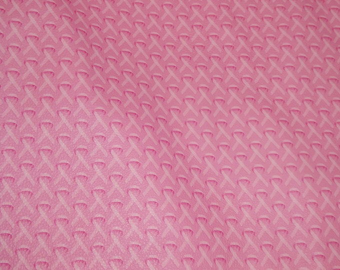 NeW Leather 3-4-5 or 6 sq ft Pink BREAST CANCER Ribbon on PINK cowhide 2.5-3 oz / 1-1.2 mm PeggySueAlso™ E6800-01 hides available