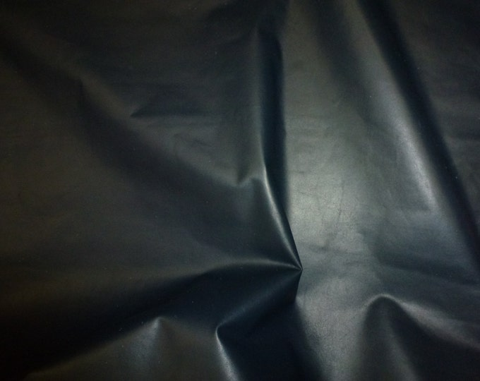 """Leather 12""""x20""""+  Plonge NAVY Full grain THIN Cowhide 1.25-1.5 oz/0.5-0.6 mm PeggySueAlso™ E2843-10 Full hides available"""