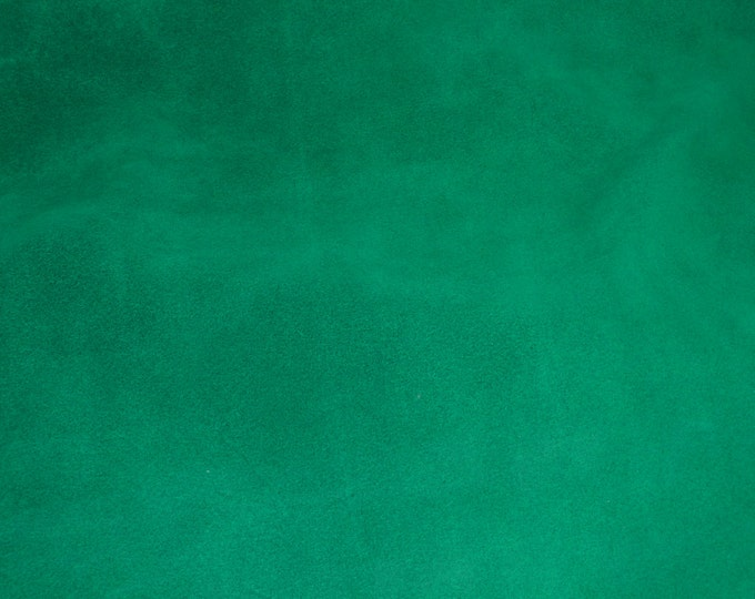 "Suede Leather 8""x10"" EMERALD / Shamrock Green Garment Suede 4-4.5 oz / 1.6-1.8 mm PeggySueAlso™ E2825-07 hides available"
