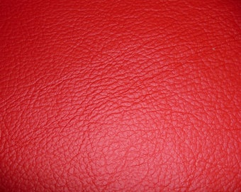 """Leather 8""""x10"""" KING Bright Red Full Grain Cowhide 2.75-3.25 oz / 1.1-1.3 mm PeggySueAlso™ E2881-03 Full hides available"""