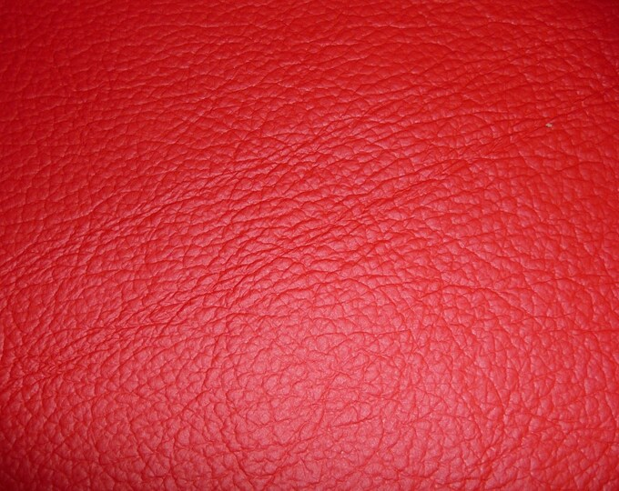 "Leather 8""x10"" King RED Full Grain Cowhide 2.75-3.25 oz / 1.1-1.3 mm PeggySueAlso™ E2881-03 Full hides available"