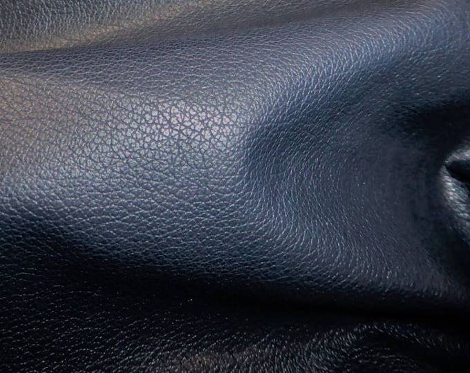 """Leather 20""""x20"""" Divine DARK NAVY BLUE Top Grain Soft Cowhide (SHlPS R0LLED)  2.5 oz / 1mm  PeggySueAlso™ E2885-04 hides too"""