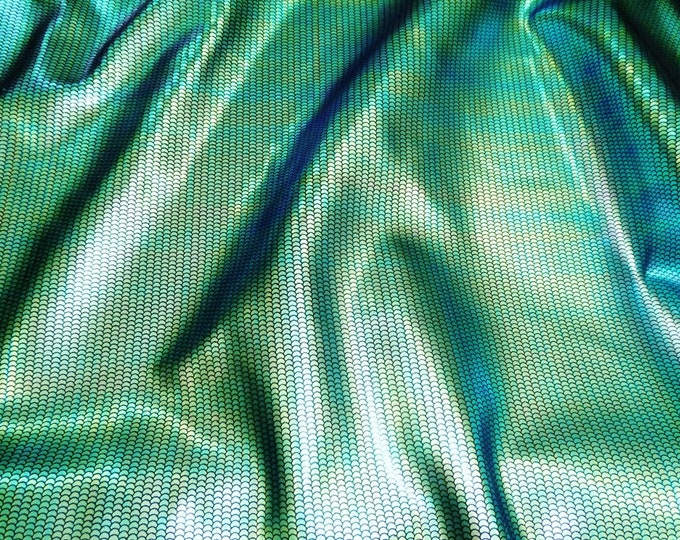 Metallic Leather 3-4-5 or 6 sq ft Mermaid Tail TEAL & GOLD hint of Purple - Changes with movement 2.25-2.5oz/0.9-1mm PeggySueAlso™ E1320-15