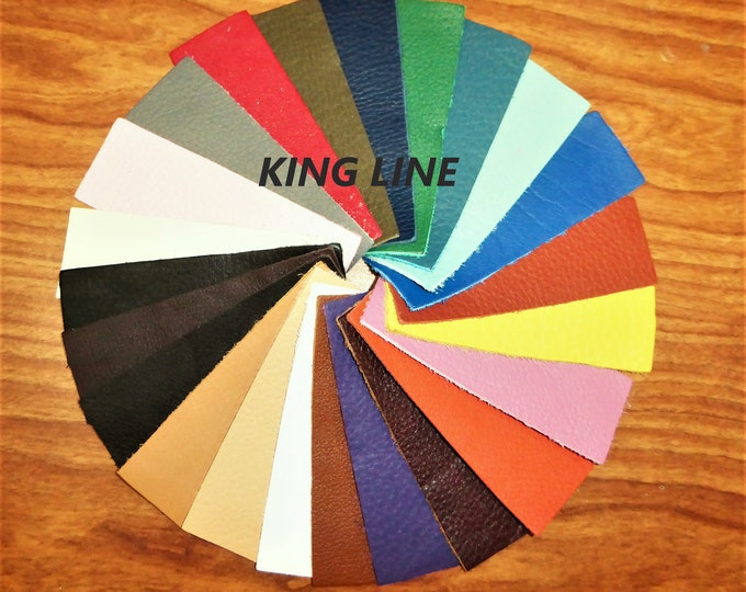 "Leather 5""x11"" KING and BOMBER King line Choice of 30 colors Soft Full grain cowhide 2.75-3.25 oz / 1.1-1.3 mm PeggySueAlso™ hides too"