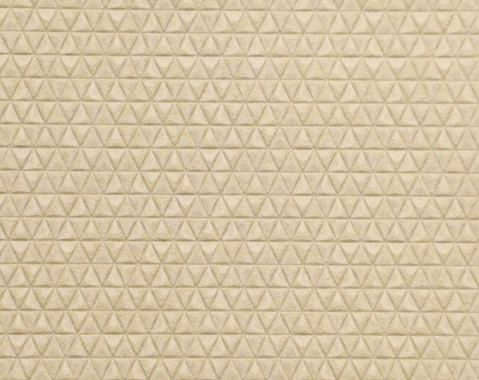 "Leather 5""x11"" Mini Triangles CREAM On Italian Cowhide 3-3.5 oz / 1.2-1.4mm PeggySueAlso™ E3172-05 Hides Available"