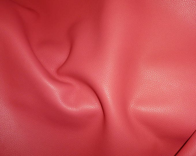 """Leather 12""""x12"""" Biker Classic CORAL top grain Cowhide 3-3.5 oz / 1.2-1.4mm PeggySueAlso™ E2879-13 Full hides available"""