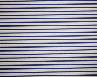 """Scrap Leather 12""""x12"""" flawed PTR Matte ROYAL blue and WHITE Straight stripes Cowhide #528 3 oz / 1.2 mm PeggySueAlso™ E3097-03"""