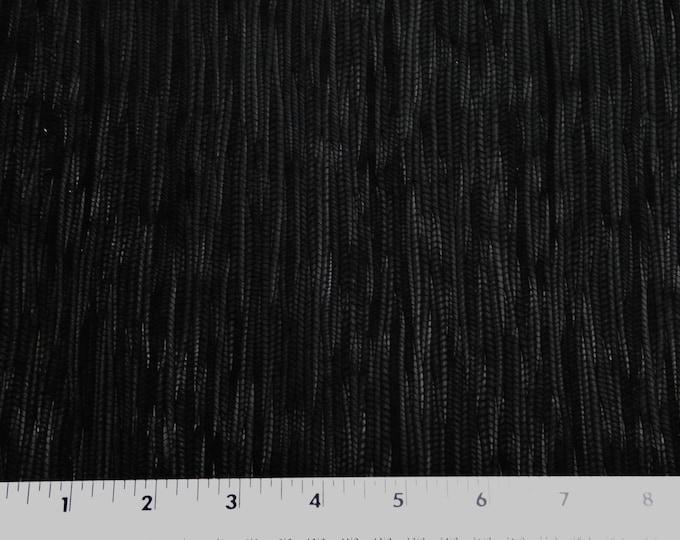 "Leather 8""x10"" Palm Leaf BLACK Cowhide 3-3.25 oz / 1.2-1.3 mm PeggySueAlso™ E3171-08"