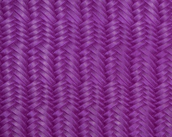 """Leather 12""""x12"""" Braided ITALIAN Fishtail DARK MAGENTA Cowhide 3-3.5 oz / 1.2-1.4 mm PeggySueAlso™ E3160-10 Hides available"""