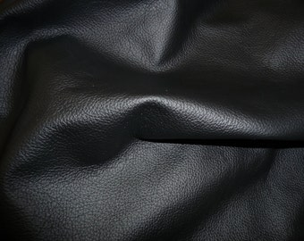 """Leather 12""""x12"""" Divine BLACK Top Grain Cowhide 2.5 oz / 1 mm PeggySueAlso™ E2885-24 hides available"""